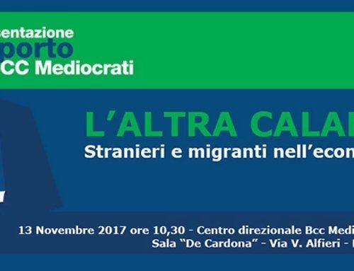 Economia&Immigrazione. Lunedì presentazione studio BCC Mediocrati – Demoskopika